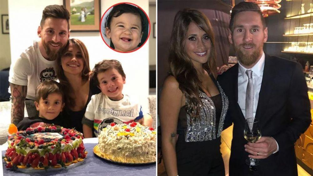 Antonela Roccuzzo celebró sus 31 años junto a Messi y sus hijos