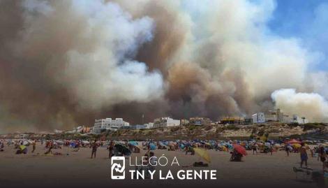 Evacuaron a los vecinos de Las Grutas por un incendio de pastizales