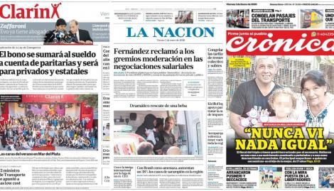 Las negociaciones por el aumento y la masacre de Melchor Romero, en las tapas de los diarios argentinos