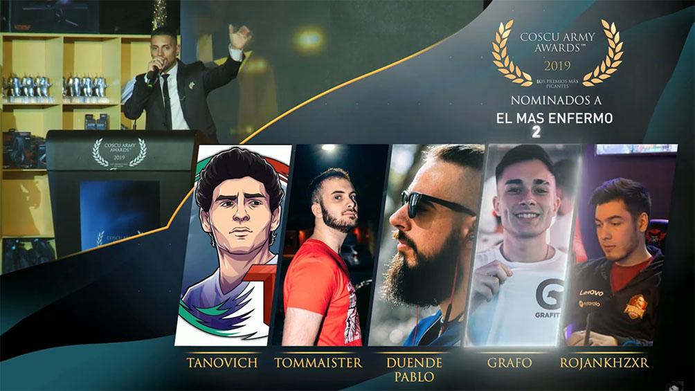 coscu-army-awards:-los-streamers-tienen-sus-premios
