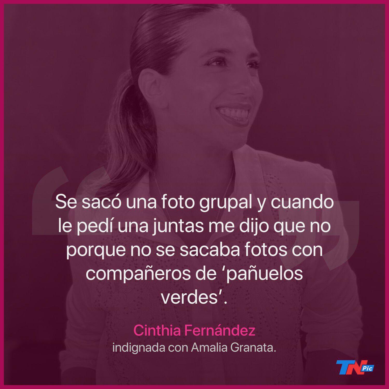 Cruce en los pasillos: Amalia Granata y Cinthia Fernández se sacaron chispas fuera del aire