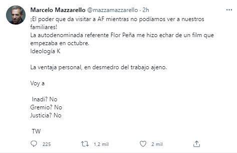 "florencia-pena-denunciara-a-marcelo-mazzarello-por-difamarla:-""jamas-daria-de-baja-a-un-actor-por-su-ideologia"""